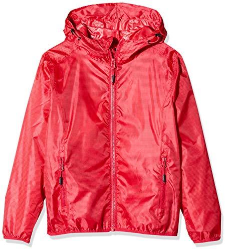 CMP Rain Jacket with Fixed Hood Chaqueta, Chica, Ibisco-Coral, 140