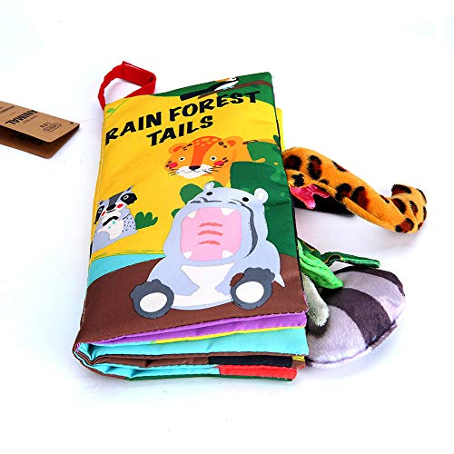 beiens Quiet Books 8 Animals Felt - Ultra Soft Baby books Touch and feel Cloth Book, 3D Books Fabric Activity for Babies /Toddlers, Learning to Sensory Book、Identify Skill Boys and Girls, Busy Book