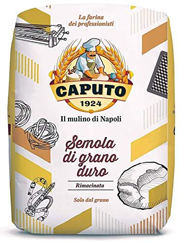 Antimo Caputo Semola Di Grano Duro Rimacinata Semolina Flour 2.2LB (1kg) Bag - All Natural Dough for Fresh Pasta, 3 Pack