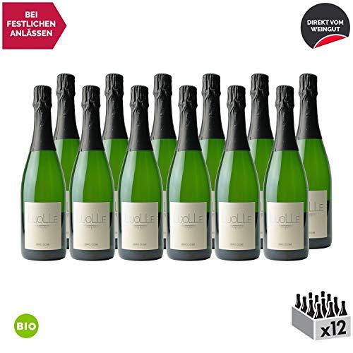 Crémant de Bourgogne Zéro Dosé Extra Brut Weißwein 2017 - Bio - Domaine de la Luolle - Sekt - g.U. - Burgund Frankreich - Rebsorte Chardonnay, Aligoté - 12x75cl