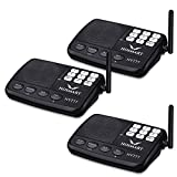 Wireless Intercom System Hosmart 1/2 Mile LONG RANGE 7-Channel Security Wireless Intercom System for Home or Office (New Version) [3 stations Black][NOT WIRELESS CHARGER]