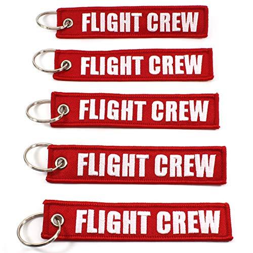 Rotary13B1 Flight Crew - Red/White - 5pcs Keychains