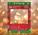 setecientosgramos Photocall Instagram Navidad II Personalizado| 80x110 | Comidas de Empresa | Cenas Nochebuena | PhotoBooth Instagram (Cartón 4mm)