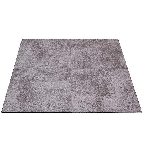 Objekt Teppichfliesen Beton-Optik Fliese Gewerbe Teppich 50x50cm, Farben:Grau