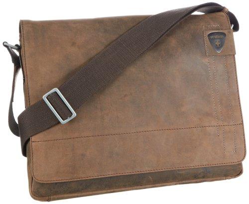 Strellson Richmond Messenger LH 4010001163 Herren Umhängetaschen 39x31x9 cm (B x H x T), Braun (dark brown 702)