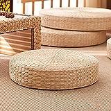 Monnadu Tatami - Cojín de paja transpirable, ampliamente aplicado, cómodo, tejido de paja, hecho a mano, almohada para yoga, té, ceremonia, meditación, decoración del hogar, 40 cm