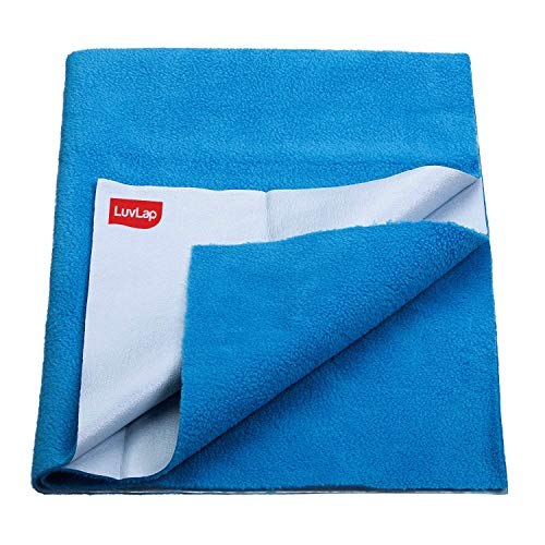 LuvLap Instadry Extra Absorbent Dry Sheet/Bed Protector - Royal Blue, 0m+ - Small 50 x 70cm