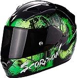Scorpion Casco Moto EXO-1200Air Tenebris Black/Green,...