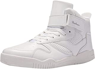 Men's High-Top Sneakers-Fashion Leather Lace-Up Sports Shoes -Casual Street Shoes