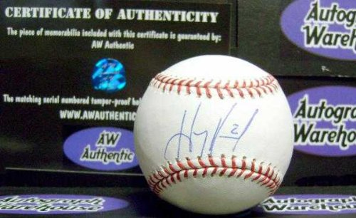 Hanley Ramirez autographed baseball (OMLB Boston Red Sox Dodgers Marlins All Star) AW Certificate of Authenticity Hologram