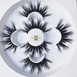 25mm Eyelashes 3D Mink Eyelashes Dramatic Long Eyelashes Set Pack 3 Pairs/lot 100% Siberian Mink Fur Eyelashes Handmade Strips Fake Eyelashes