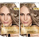 L'Oreal Paris Superior Preference Fade-Defying + Shine Permanent Hair Color, 7.5A Medium Ash Blonde, 2 COUNT Hair Dye