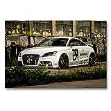 Premium Textil-Leinwand 90 x 60 cm Quer-Format Audi TT  