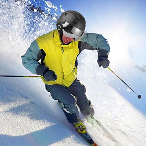 lembrd Skihelm heren snowboardhelm, skihelm bril vizier snowboard veiligheidshelm masker skiën accessoire voor mannen vrouwen