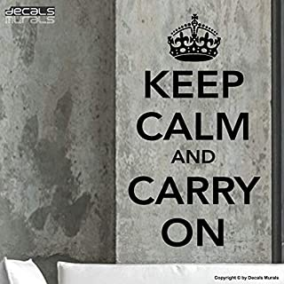 CLIFFBENNETT Keep Calm and Carry On Wall Decals Quotes Lettering Decor stickersby Decals Murals (22x38)