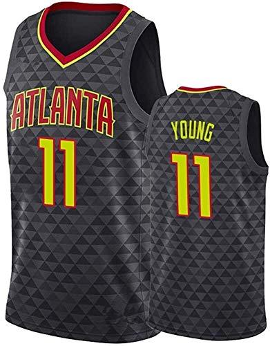 llp Basketball Jersey-Atlanta Hawks 11# Trae Joven Bordado Bordado de Baloncesto Uniforme...