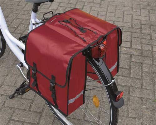Filmer Fahrradtasche Gepäckträgertasche Doppeltasche rot
