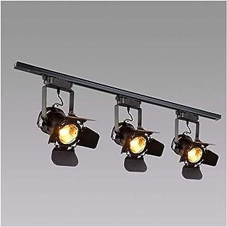 XXE Plafonnier 3 Spot LED Noir Retro, Vintage Éclairage Sur Rail Spot De Plafond Luminaire, Noir Mat Au Plafond Spots LED ...