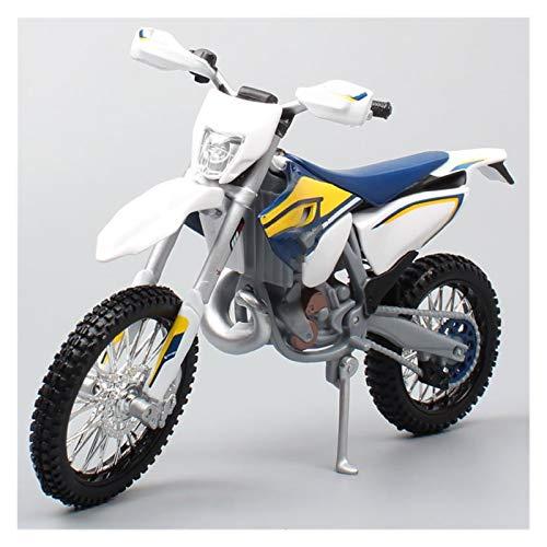 Motocicleta Miniatura 1/12 Motocicleta para Husqvarna TE125 Dirt Bike Motocross Moto Enduro Diecast & Vehículos Off Road Race Model Toys