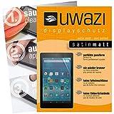 uwazi I 3X Satin-Matte Schutzfolie für Amazon Fire HD 8 (Modell 2017) Bildschirmschutzfolie I Folie I Anti Fingerabdruck I Anti Kratzer