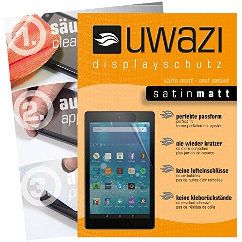 uwazi I 3X Satin-Matte Schutzfolie für Amazon Fire HD 8 (Modell 2017) Displayschutzfolie I Folie I Anti Fingerabdruck I Anti Kratzer