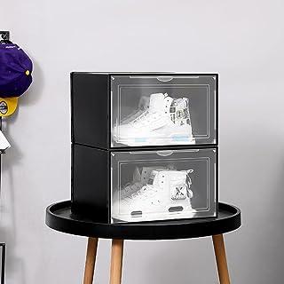 SiShoe Lot de 12 boîtes empilables magnétiques transparentes pour rangement de chaussures, tiroirs, maquillage, collations