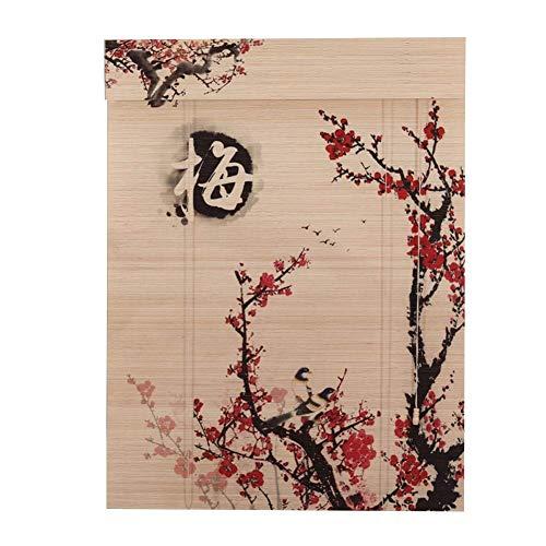 LJFYMX Persianas de bambú Persianas orientables de bambú de Muebles orientales Persiana Enrollable de bambú (Pattern : A, Size : 100x120cm)