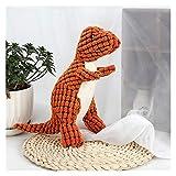 Ehgntijkmjiali Fleece Gran Dinosaurio Juguete Gigante Perro Mascota Perro Grande Perro Interactivo Juguete Masticar Juguete Peluche (Color : A, Size : 25X9CM)