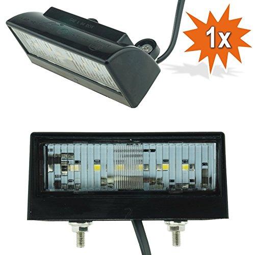 Do!LED 409 universal schwarze LED Kennzeichenbeleuchtung Xenon Weiss mit E-Prüfzeichen für MOTORRAD ATV QUAD ANHÄNGER SCOOTER