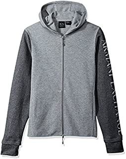A|X Armani Exchange Men's Heathered Long Sleeve Logo'd Hoodie
