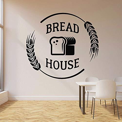 HGFDHG Pegatinas de Pared de panadería Pegatinas de Pared de Vinilo Pegatinas de Ventana de Pan Productos de panadería de Porcelana para el hogar Logotipo de panadería