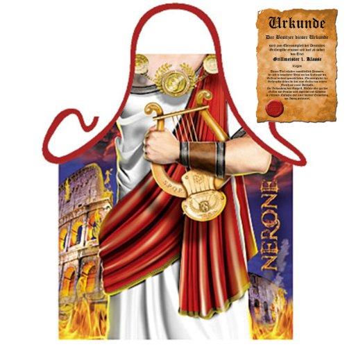 bedruckte Karneval Grillschürze - geiles Motiv: Nero - coole lustige Fasching Party Koch Schürze Fastnacht