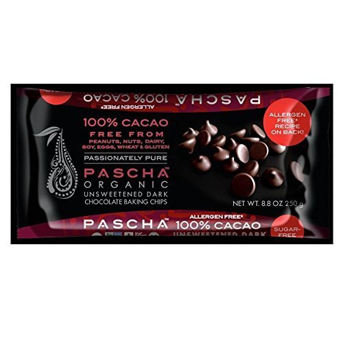 PASCHA Organic Dark Outstanding Chocolate Baking Chips Unsweet National uniform free shipping 100% Cacao -