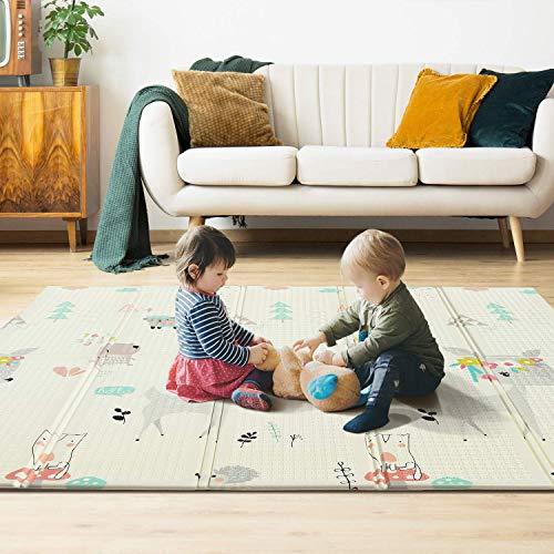 YISSVIC Tappeto Gioco Bambini 197×177×1.5cm Tappeto Bambini, Doppio Lato XPE Schiuma, Tappeto...