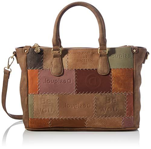 Desigual Accessories PU Hand Bag, Sac à main. Femme, Marron, U