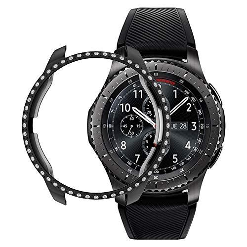 QYGGGSmart horlogebehuizing scherm beschermcase voor Samsung horloge 42mm PC-diamant-horloge tas (zwart), roze