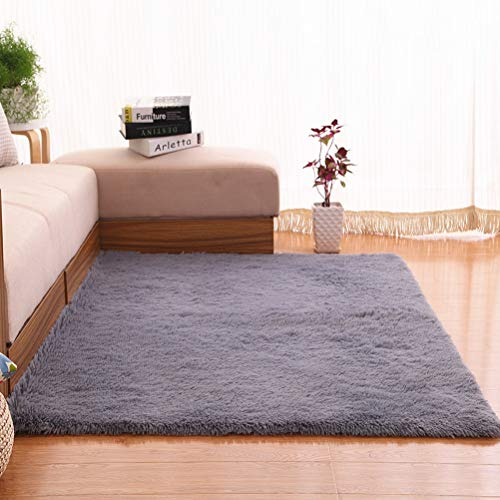 Slaapzaal Carpet Warm Hairy Carpet Nordic Style lange wollen tapijt geïmiteerd Wool Kamer Vloerbedekking Chair Cover Slaapkamer Mat Grijs Tapijt (120x160cm) 20/5/5 (Color : Gray)