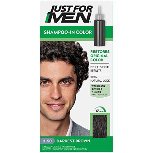 Just for Men Solo per gli uomini dei capelli di colore H-50 Darkest Brown 1 Pezzo (pacchetto di 5)