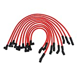 JDMON Compatible with High Performance Spark Plug Wire Set Ignition Wire Ford F150 Mustang 5.0L 5.8L SBF 302 Red line