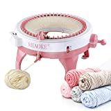 MIAOKE Knitting Machine, 48 Needles King Size Smart Weaving Loom Knitting Round Loom, Smart Knitting Board Rotating Double Knit Loom Machine, DIY Knitting Loom Machines Weaving Loom Kit