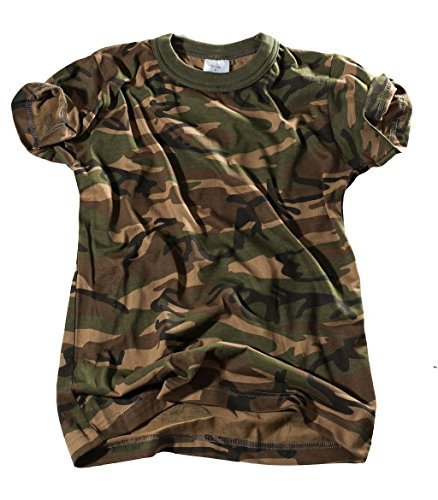 Bequemes US Army Style Kinder T-Shirt S-XXXL (L (146/152), Woodland)