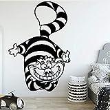 Etiqueta engomada nórdica de la pared del gato de la civeta de la historieta del papel animal de la habitación de los niños