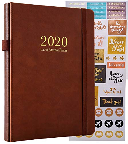 2020 Deluxe Law of Attraction Life Planner - A 12 Month Journey to Increase Productivity, Passion, Purpose & Happiness - Happy Weekly Goal Planner, Organizer & Gratitude Journal + Planner Stickers