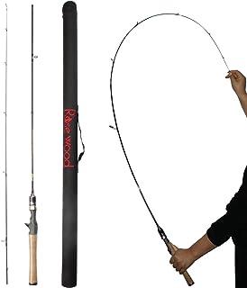 ローズウッド1.8?M ( 602?) Ultralight Spinning Rod Soild Tip Baitcast釣りロッドUL Slowアクションfor淡水海水極軽量ウルトラライトCasting Lure Fishing withケース