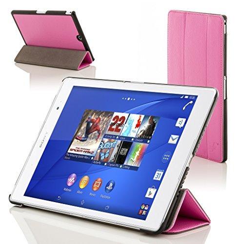 Forefront Cases® Sony Xperia Z3 8.0 Tablet Compact Funda Carcasa Stand Smart Case Cover – Ultra Delgado Ligera y Protección Completa del Dispositivo con Función Auto Sueño/Estela (Rosa)