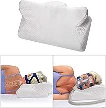 Enshey CPAP 対応枕 ネックピロー 睡眠時無呼吸症候群 いびき防止枕 いびき対策 低反発 頚椎安定 頚椎サポート 安眠 快眠枕 仰向き 横向き対応 通気性抜群