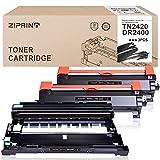 ZIPRINT Cartuchos de tóner compatibles TN2420 y DR2400 para Brother TN-2420 TN2410 y DR-2400 para Brother HL-L2370DN HL-L2375DW MFC-L2710DN MFC-L2710DW MFC-L2750DW DCP-L2510D P-L253. 0DW