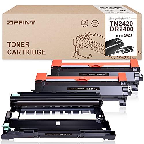 ZIPRINT TN2420 & DR2400 - Cartucce toner compatibili per Brother TN-2420 TN2420 TN2410 e DR-2400 per Brother HL-L2370DN HL-L2375DW MFC-L2710DN MFC-L2710DW MFC-L2750DW DCP-L2510DCD P-L253. 0DW