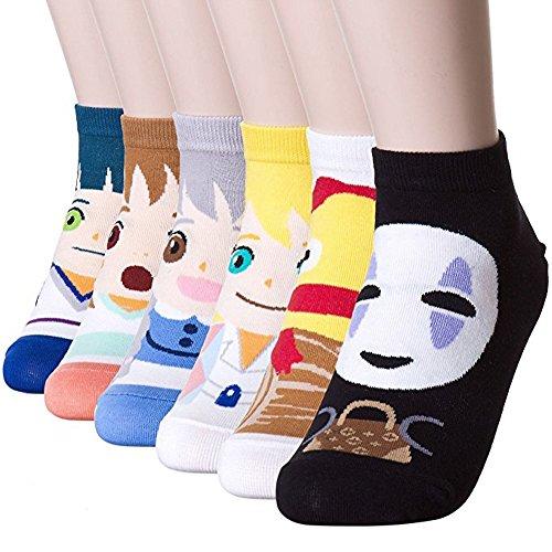 Happytree - 6 Pares de calcetines con patrón de anime,...