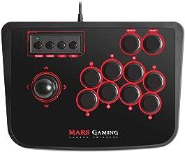 Mars Gaming MRA, Controlador Arcade, switches mecánicos, ergonómico, 14 Botones